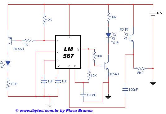 Circuito Eletronico : Esquema de circuito eletrônico detector infra vermelho