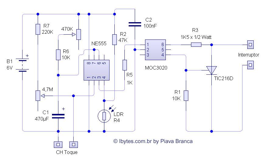 Circuito Eletronica : Circuito eletrônico de l mpada inteligente que liga só à noite