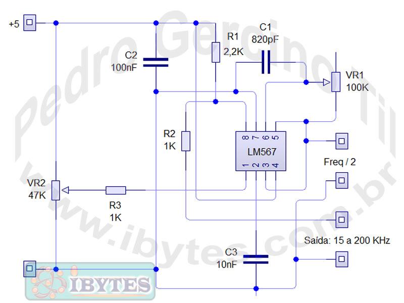 Circuito Eletronico : Circuito eletrônico de oscilador duplo com apenas um ci lm