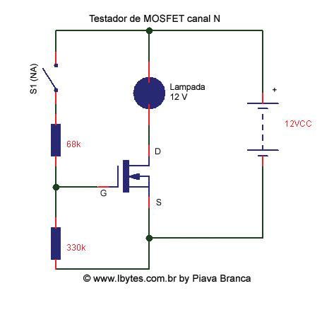Testador de Transistores do Tipo MOSFET